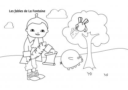 Coloriage Pop & Corn et les Fables de La Fontaine