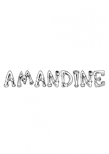 Coloriage Amandine