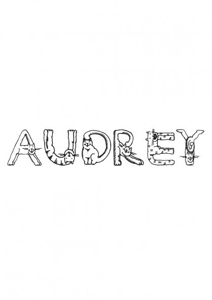 Coloriage Audrey