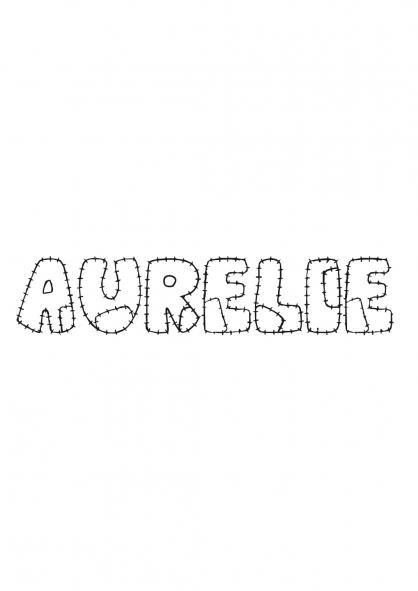 Coloriage Aurélie