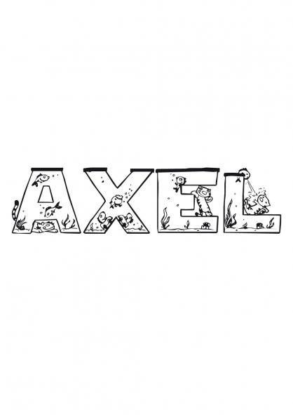 Coloriage Axel