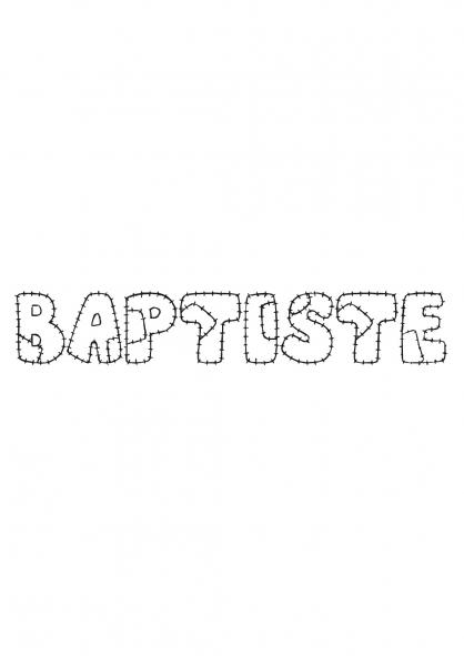 Coloriage Baptiste