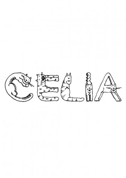 Coloriage Célia