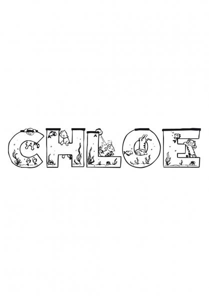 Coloriage chlo coloriage pr noms coloriage divers - Coloriage prenom tag ...