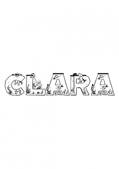 Coloriage Clara
