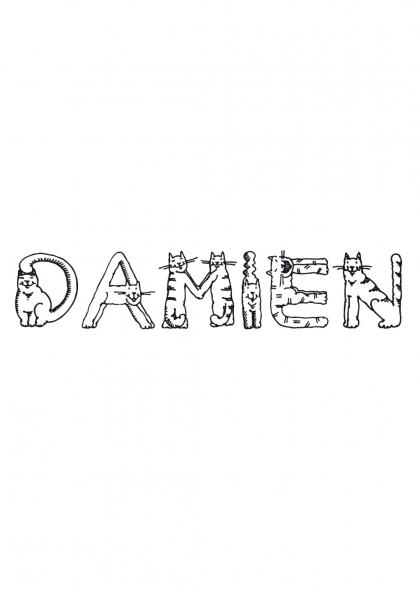 Coloriage Damien