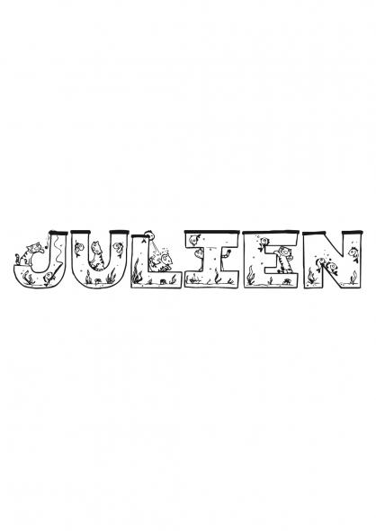 Coloriage Julien