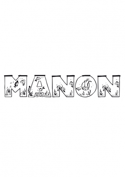 Coloriage manon coloriage pr noms coloriage divers - Coloriage manon ...