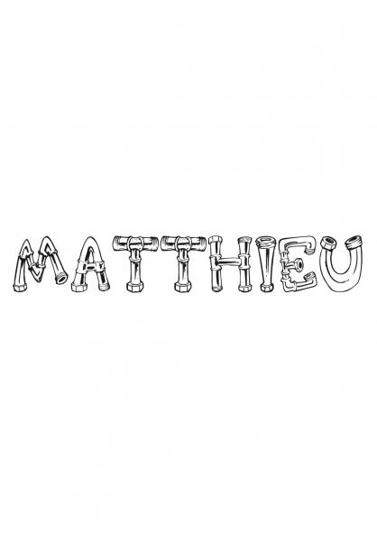 Coloriage Matthieu