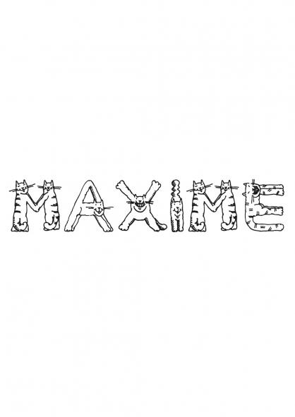 Coloriage Maxime