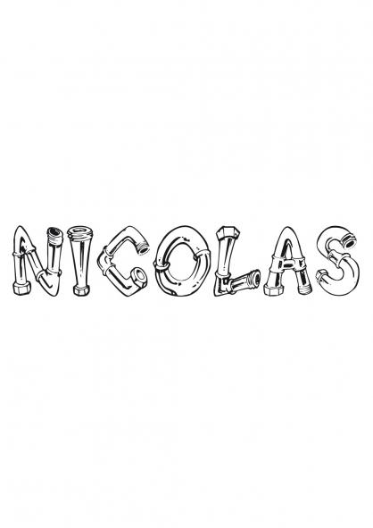 Coloriage Nicolas