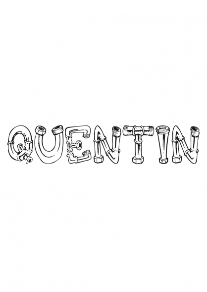 Coloriage Quentin