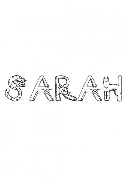 Coloriage Sarah