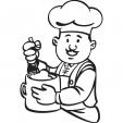Coloriage Un Chef à ma porte 11