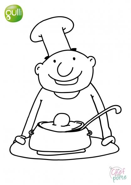 Coloriage Un Chef à ma porte 2