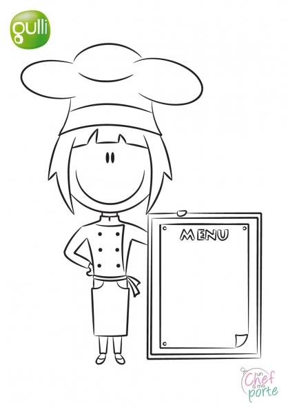Coloriage Un Chef à ma porte 3