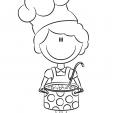 Coloriage Un Chef à ma porte 4