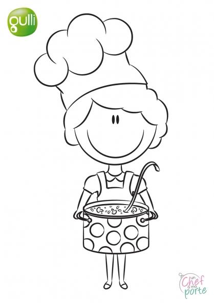Pin chef cuisinier coloriage on pinterest - Chef cuisinier dessin ...