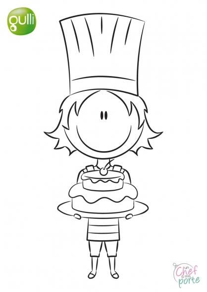 Coloriage Un Chef à ma porte 5