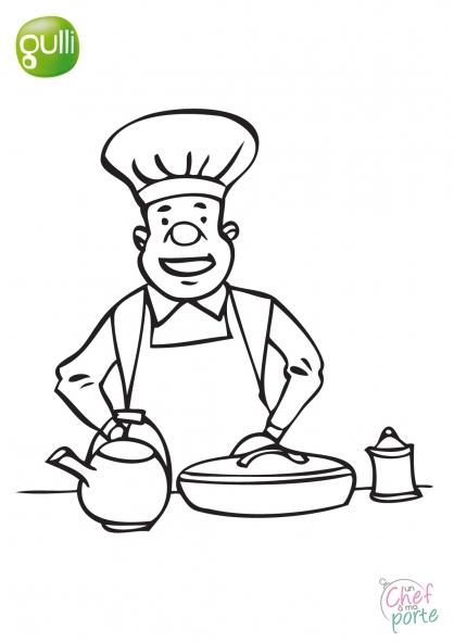 Coloriage Un Chef à ma porte 7