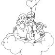 Coloriage Amour 12