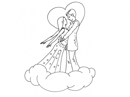 Coloriage Amour 15