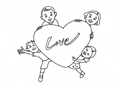 Coloriage Amour 5