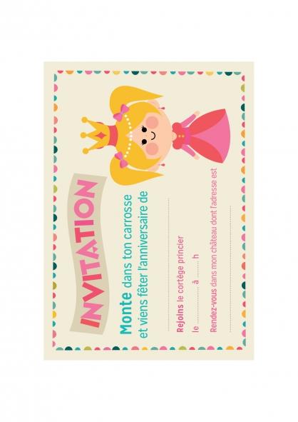 Coloriage Un anniversaire de princesse !
