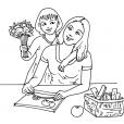 Coloriage Fête des mères 11