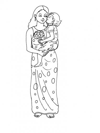 Coloriage Fête des mères 12