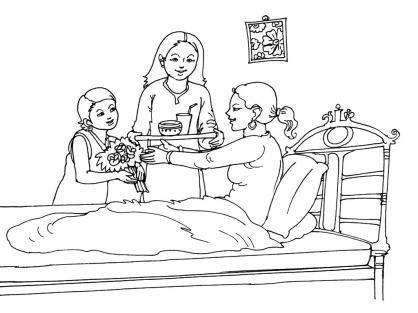 Coloriage Fête des mères 15