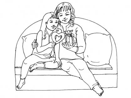 Coloriage Fête des mères 4