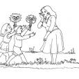 Coloriage Fête des mères 6