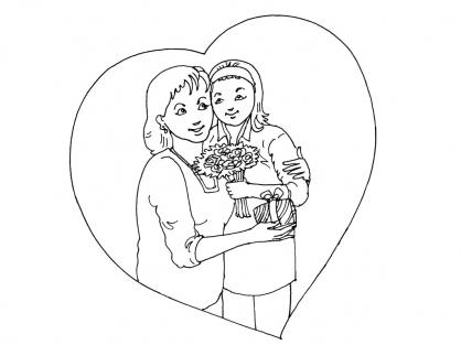 Coloriage Fête des mères 8