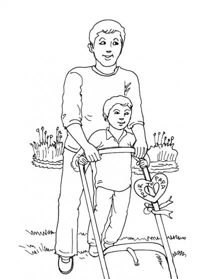 Coloriage Fête des pères 14