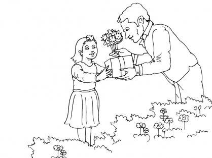 Coloriage Fête des pères 15