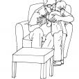 Coloriage Fête des pères 7