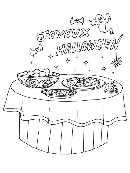 Coloriage Halloween : des recettes effrayantes