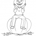 Coloriage Halloween : Jack O'Lantern 1