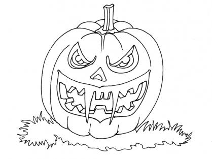 Coloriage Halloween : Jack O'Lantern 2