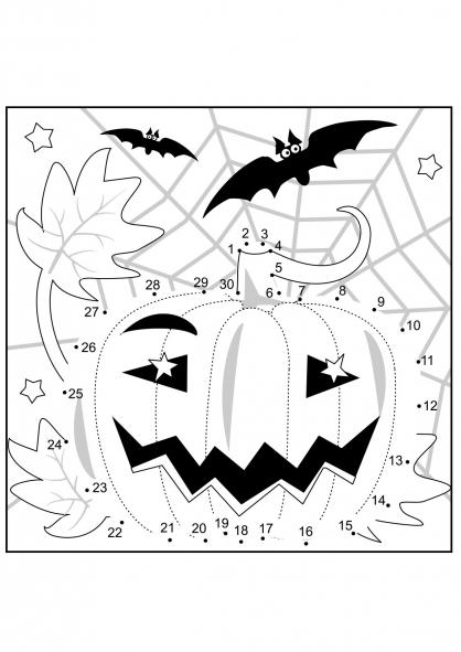 Coloriage Halloween : la citrouille