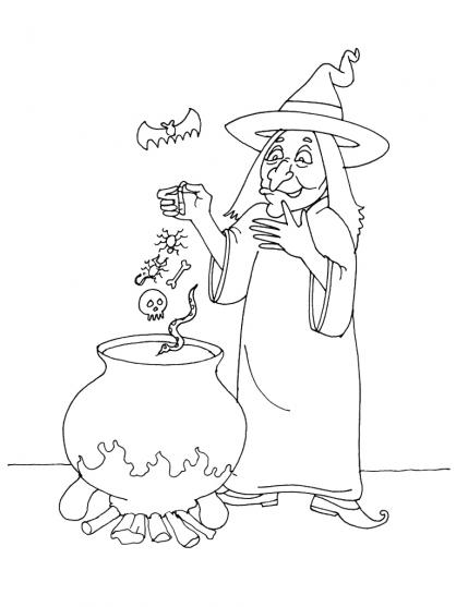 Coloriage Halloween : la potion magique