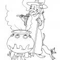 Coloriage Halloween : la sorcière 2