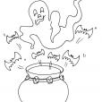Coloriage Halloween : le chaudron magique