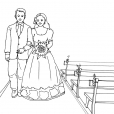 Coloriage Mariage 11