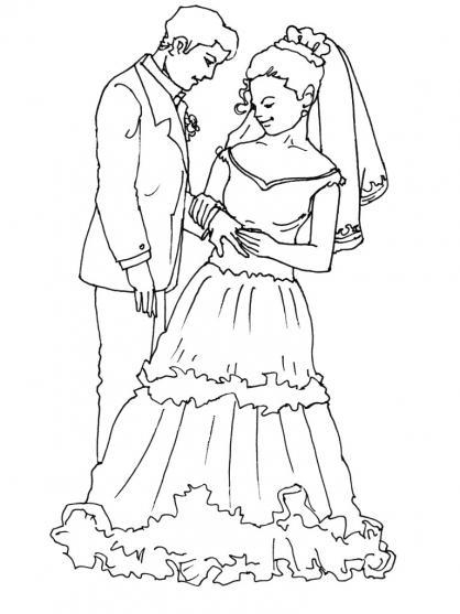 Coloriage Mariage 14