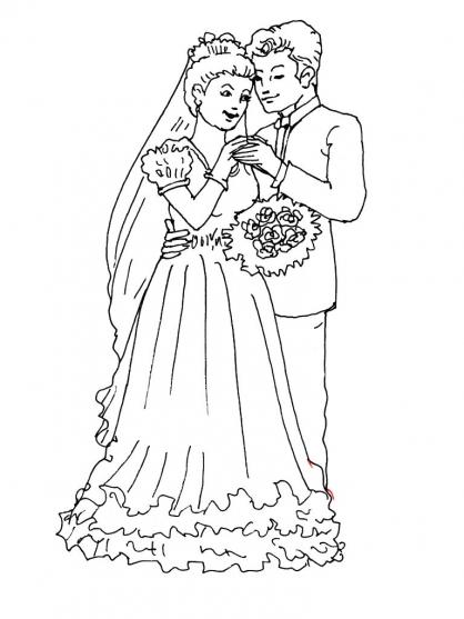 Coloriage Mariage 2