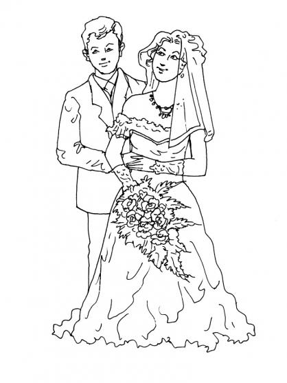 Coloriage mariage 3 coloriage mariage coloriage f tes - Coloriage mariage ...