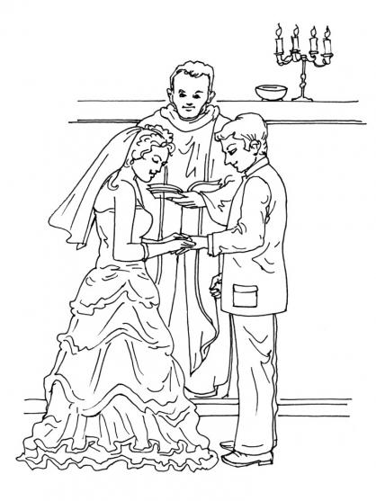Coloriage Mariage 4
