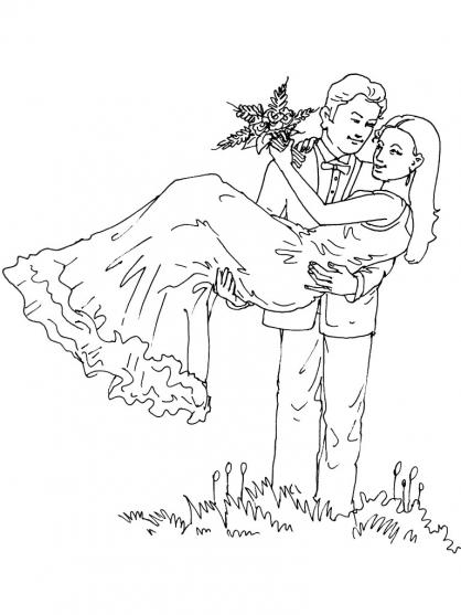 Coloriage Mariage 7